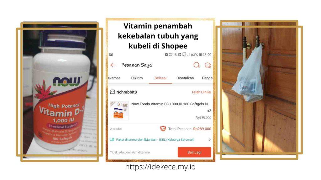 momen di rumah yang tak terlupakan beli vitamin di Shopee